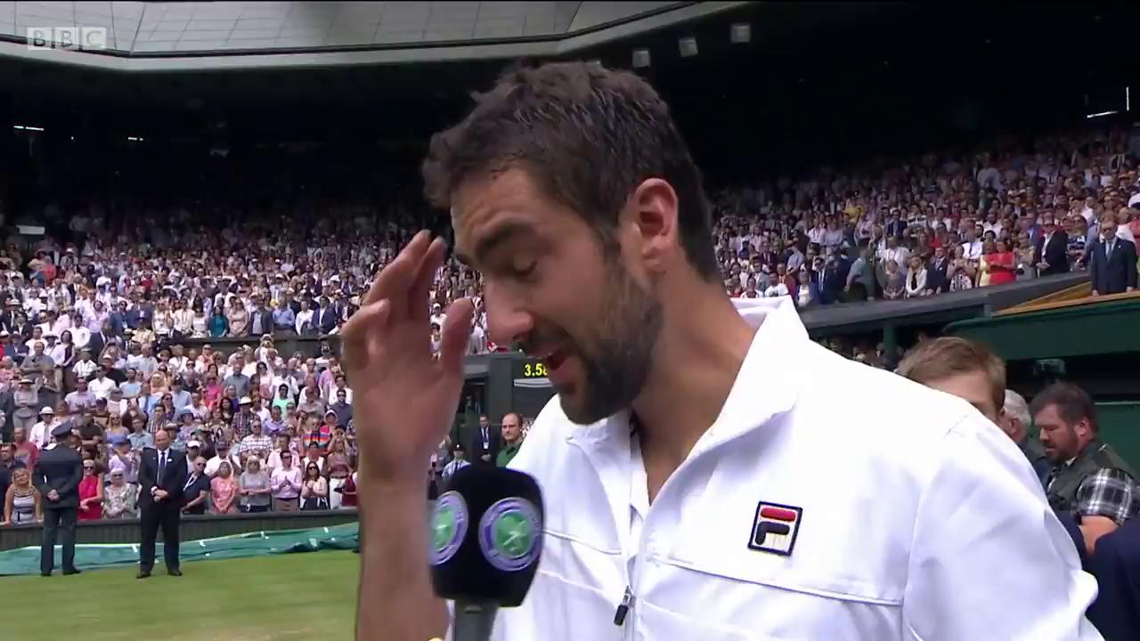 Watch an emotional Marin Cilic after his #Wimbledon defeat by Roger Federer.  He'll be back �� https://t.co/gvqDXt8dif
