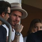David Beckham in the crowd for Manchester United's 5-2 win against LA Galaxy in first friendly of America tour