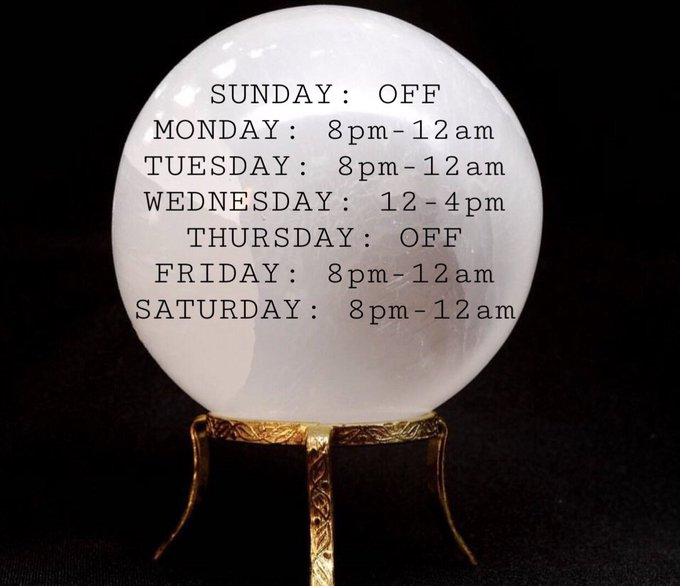 Here's my show schedule for the week (July 16-22)✨ All times in CST! ~ https://t.co/03TIzTJrLv🌞🌿 https://t