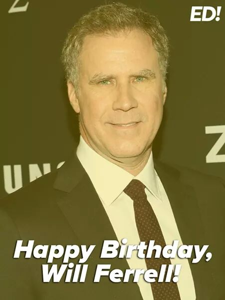 Happy birthday to Will Ferrell who turns 50 years old today!