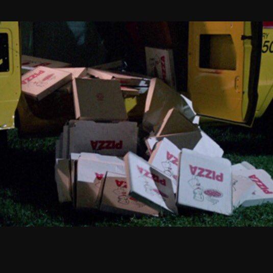 Happy birthday--I called the pizza dude!!