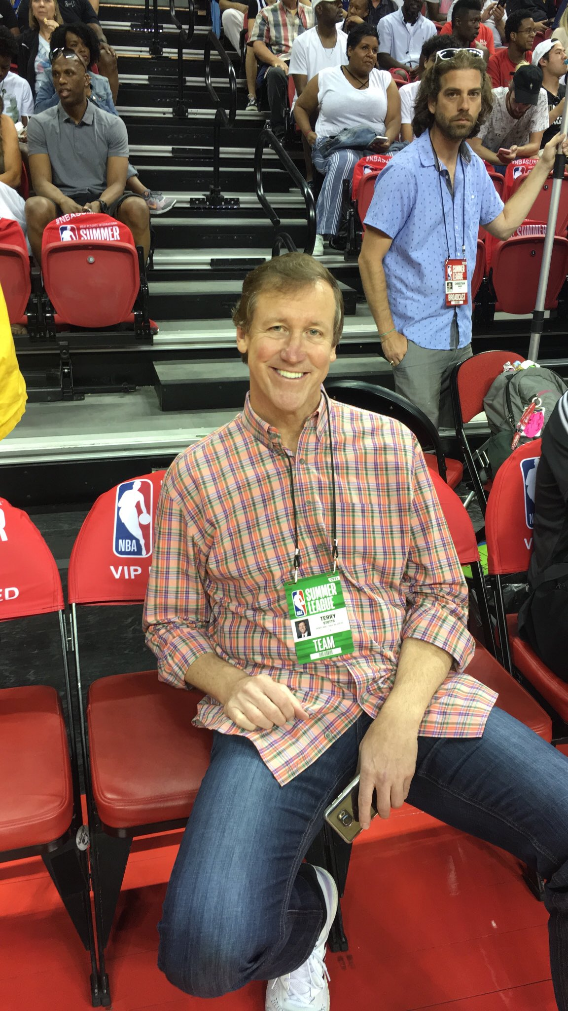 Coach Terry Stotts (@trailblazers) on hand for #SemifinalSunday!   #NBASummer https://t.co/y5BT1uTdFG