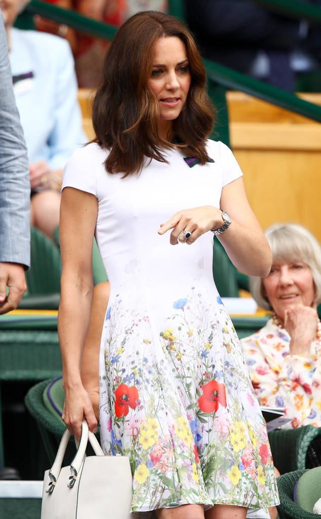 Kate Middleton brought some serious flower power to Wimbledon: