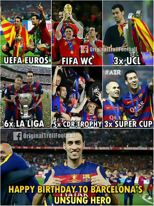 Happy Birthday Sergio Busquets