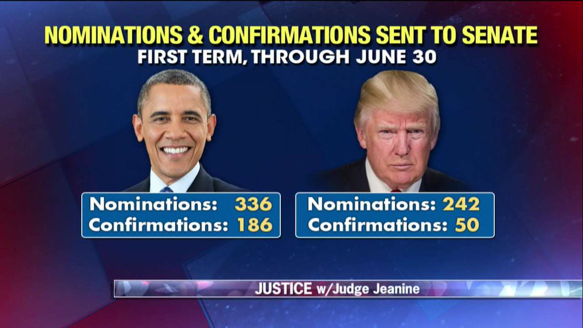 Nominations and confirmations sent to Senate - First term, through June 30 - @POTUS44 vs. @POTUS. https://t.co/36XL60xtDt
