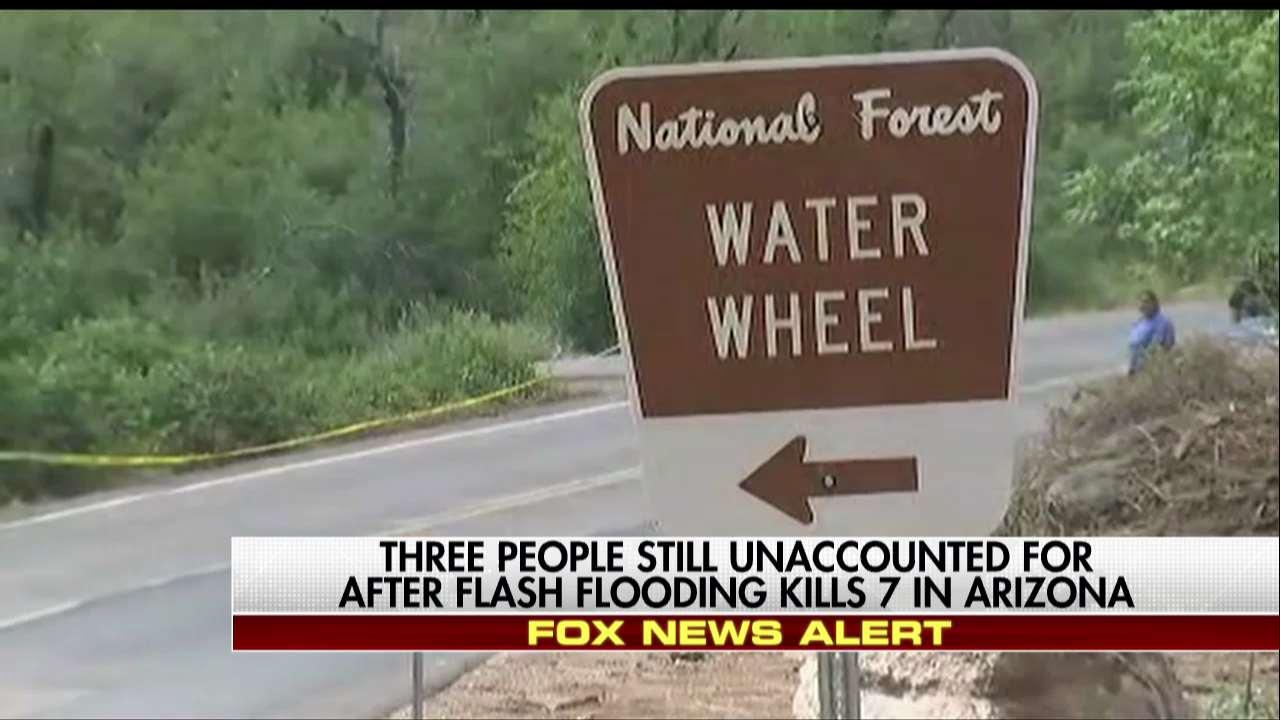 Three people still unaccounted for after flash flooding kills 7 in Arizona. https://t.co/QdrdiM7LMD https://t.co/bmcTcJ7hBi