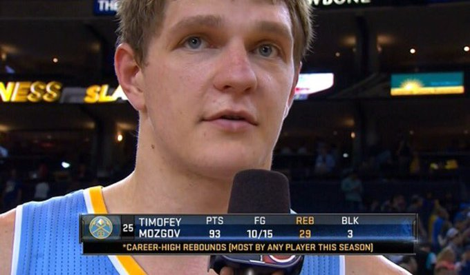 Happy birthday to Timofey Mozgov! The only man who could drop 93 points on 15 FGA.