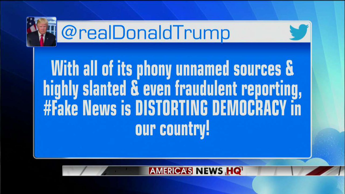 This morning, President @realDonaldTrump slammed 'fake news' for 'DISTORTING DEMOCRACY in our country!' https://t.co/Mw6kgOM8LA