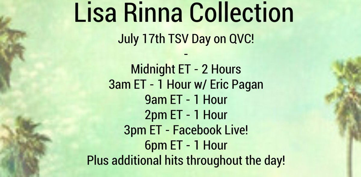 Just one hour away from my brand new cargo pant TSV on @QVC! #LisaRinnaCollection https://t.co/iz9mYf4vqw