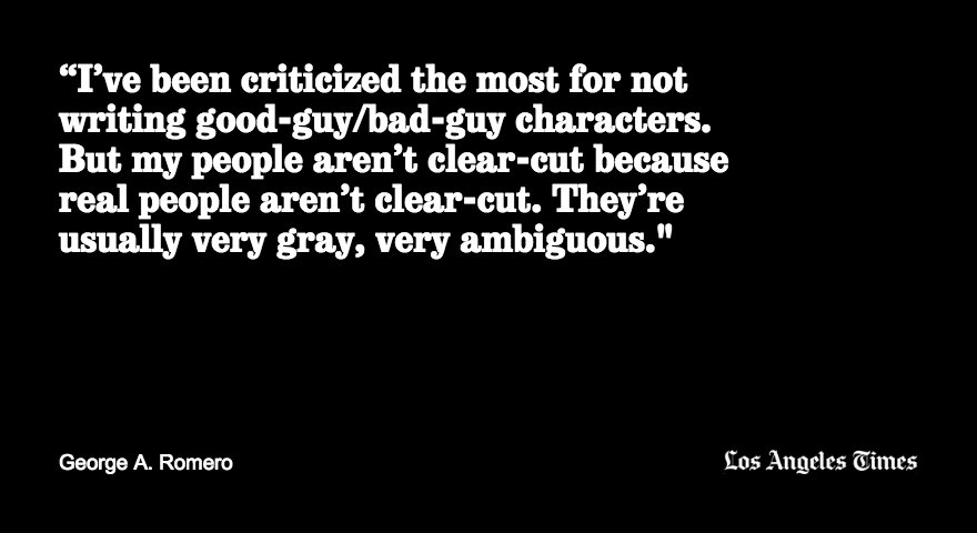 George A. Romero's approach to writing characters https://t.co/uX7wGnzA1y https://t.co/oF6YWIDV9n