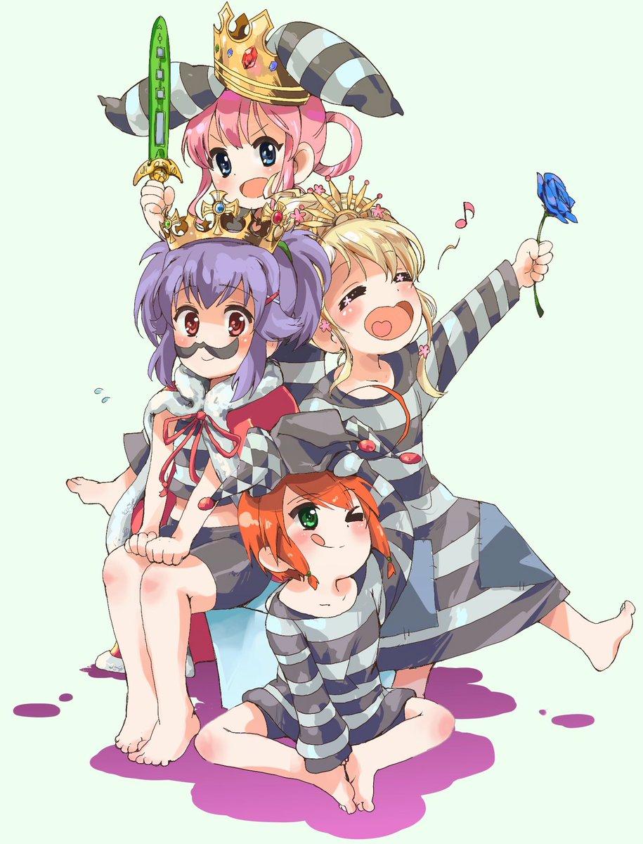 アニサマの三次元のミルキィちゃんたちが可愛いので描いてみました…!#tanu_e #milkyholmes