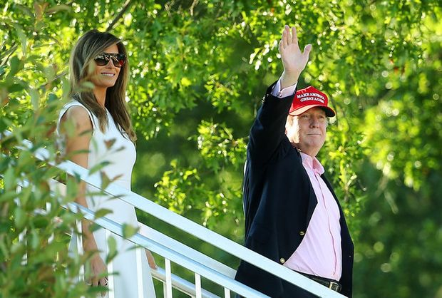 Trump departs N.J. as women's golf tourney ends