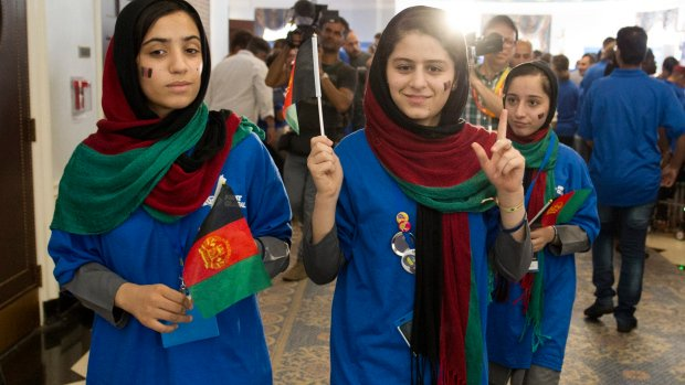 Afghan girls robotics team competing in U.S. after visa trouble