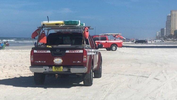 Pickup hits child on beach