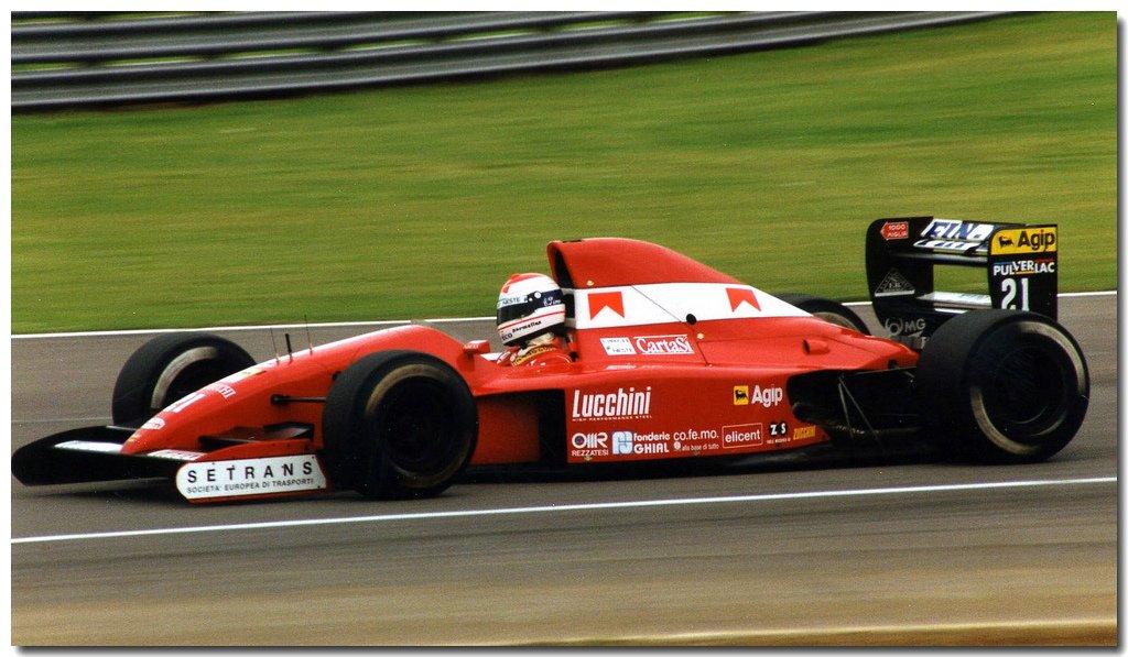 Emanuele Pirro, Lucchini BMS Dallara 191 - Judd V10. Test Silverstone 1991. #F1 @LegenF1 @FormulaOneWorld https://t.co/AgQPHw9sCl