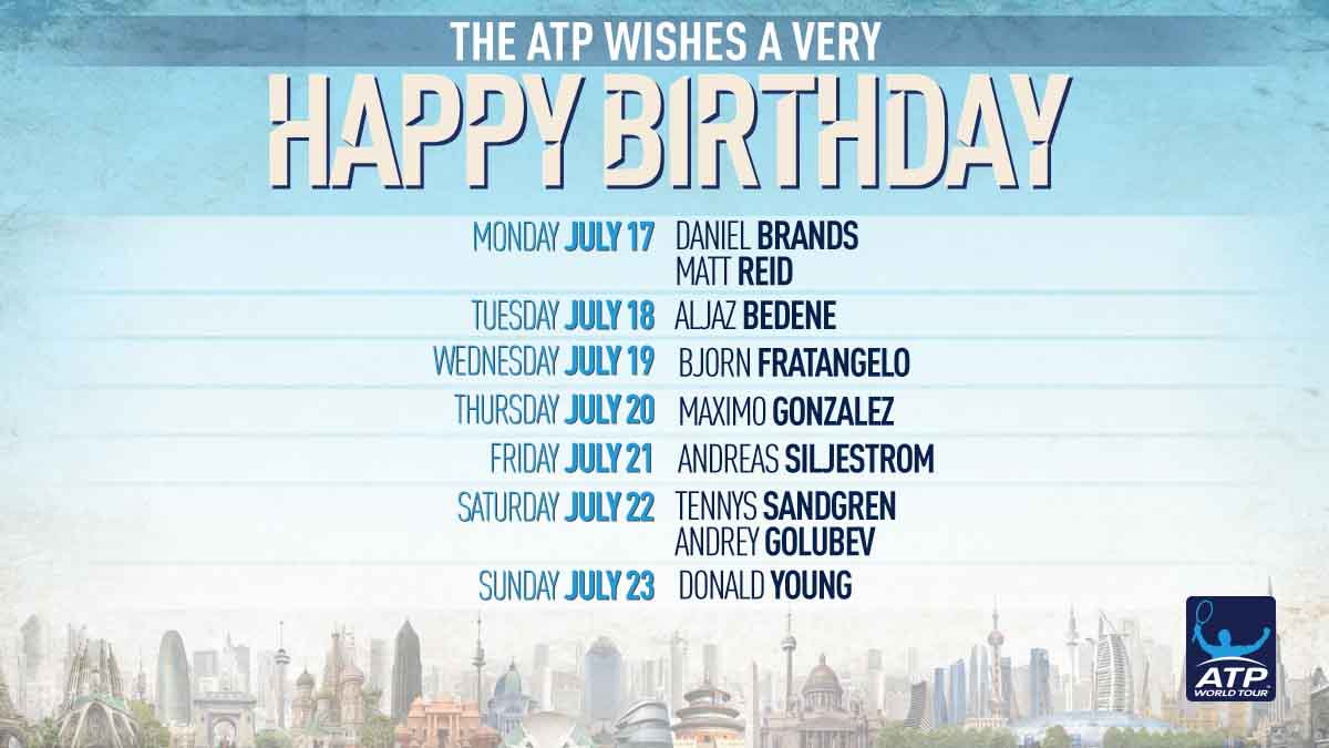 Happy birthday to all our #ATP ��s celebrating this week! �� https://t.co/sqZGVfpcGj https://t.co/3ZaZgWftLr