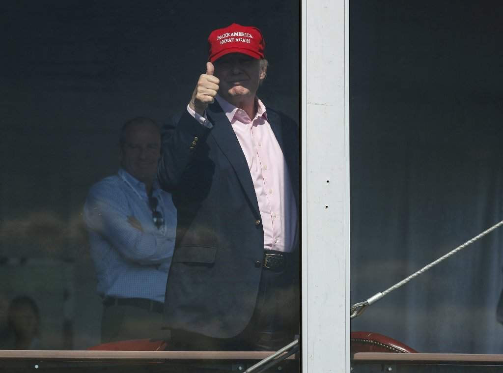 In tweets, Trump continues to promote U.S. Women's Open at his golf club https://t.co/3Wig5vqQ5a https://t.co/igjuV8Z011
