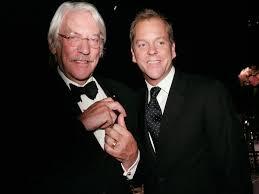 Happy Birthday , Donald Sutherland !!  Aquí con su hijo Kiefer, famoso actor televisivo