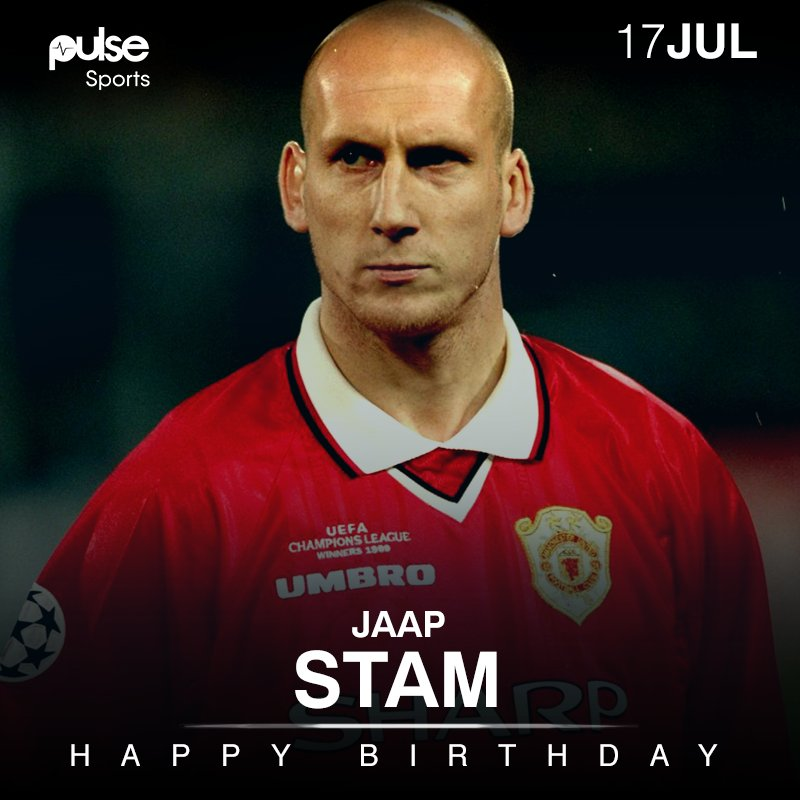 Happy 45th birthday to one of football\s greatest defenders ever, Jaap Stam!