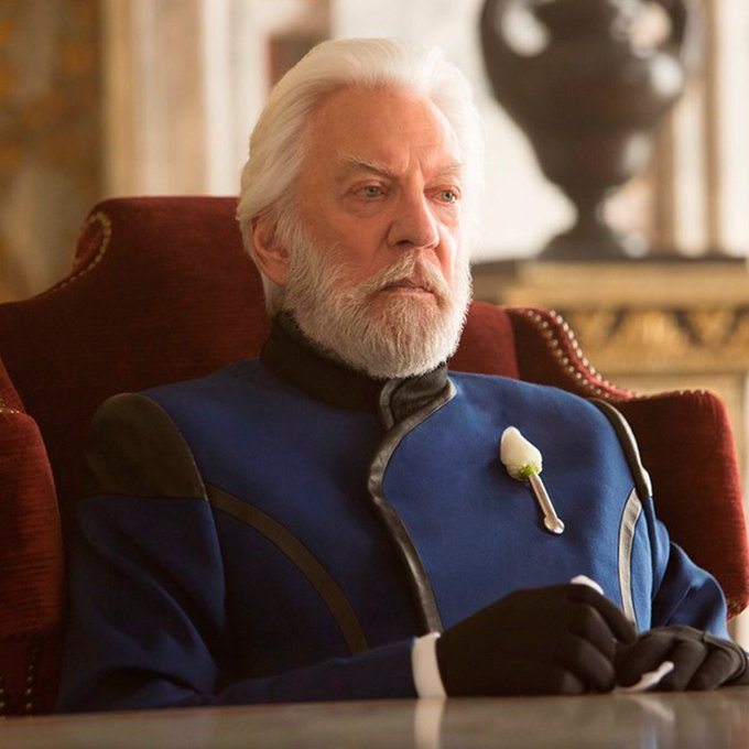 Happy Birthday to the best President Snow ever, Donald Sutherland!