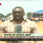 Raila leads NASA campaigns in Homa Bay