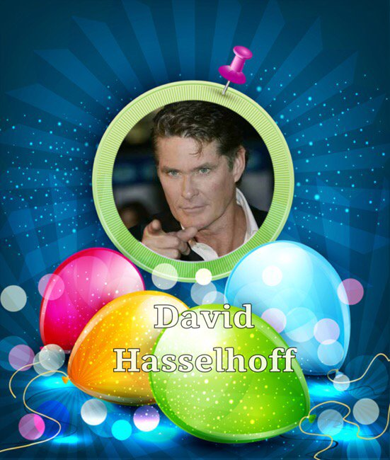 David Hasselhoff Birthday Card