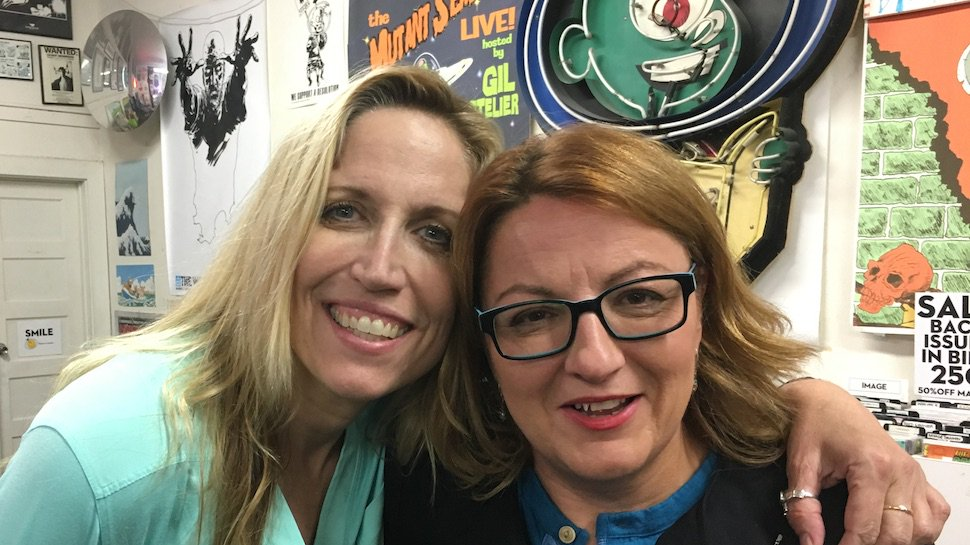 New @JackieandLaurie about sleeping in your make up and performing over white noise. https://t.co/XdfmM66cFi https://t.co/IobXGmOoip