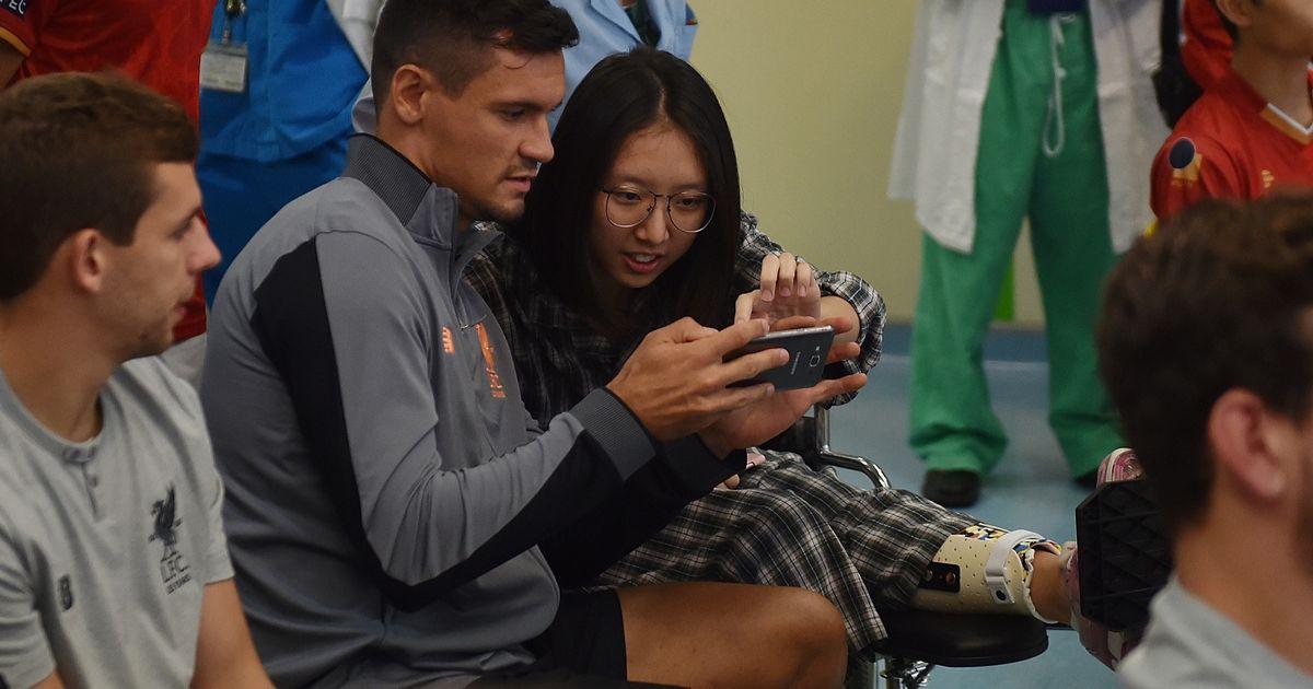 Liverpool stars visit Hong Kong children's hospital ahead of Premier League Asia Trophy