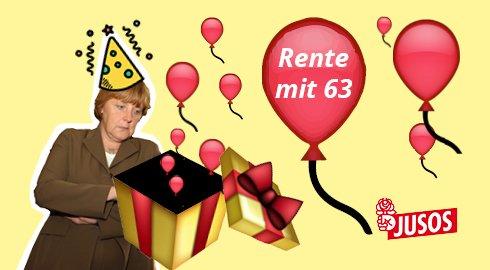 Happy Birthday,  Wir wünschen Dir alles Gute für den Ruhestand. Die Jusos