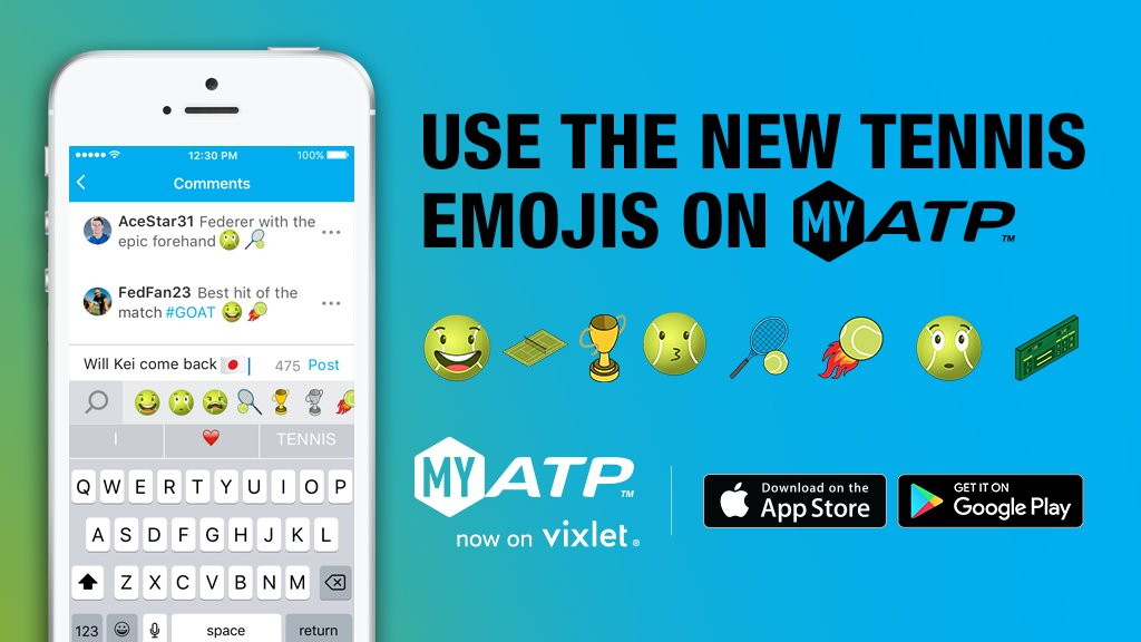 Celebrate #WorldEmojiDay with our tennis emojis, exclusively on MyATP! Sign Up/Log In Now ➡️ https://t.co/I0j4dQy3t7 https://t.co/LtvKK6meMJ