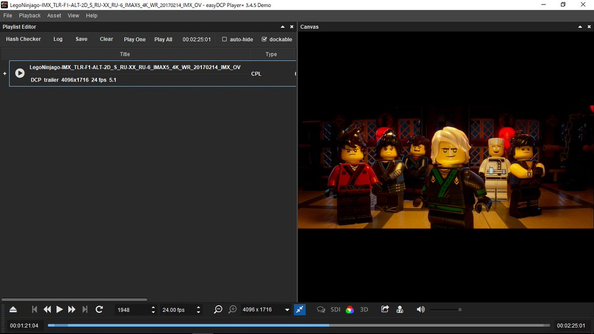 「レゴ ニンジャゴー ザ・ムービー」IMAXキセノン トレーラーF12D/4096x1716 IMAX5映像ビットレート