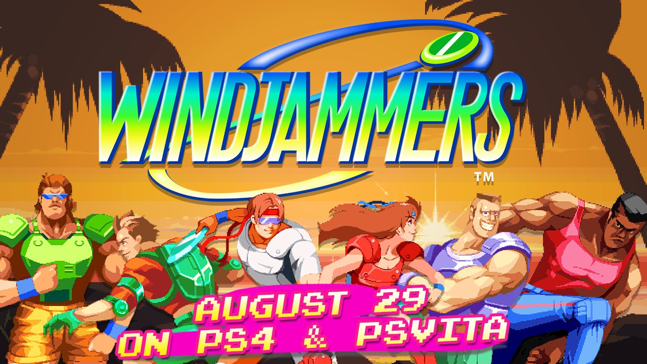 Windjammers arrives August 29 on PS4 and PS Vita: https://t.co/mURI2L2YJu Same 90's vibe, new online play https://t.co/W0vrfaJMLq