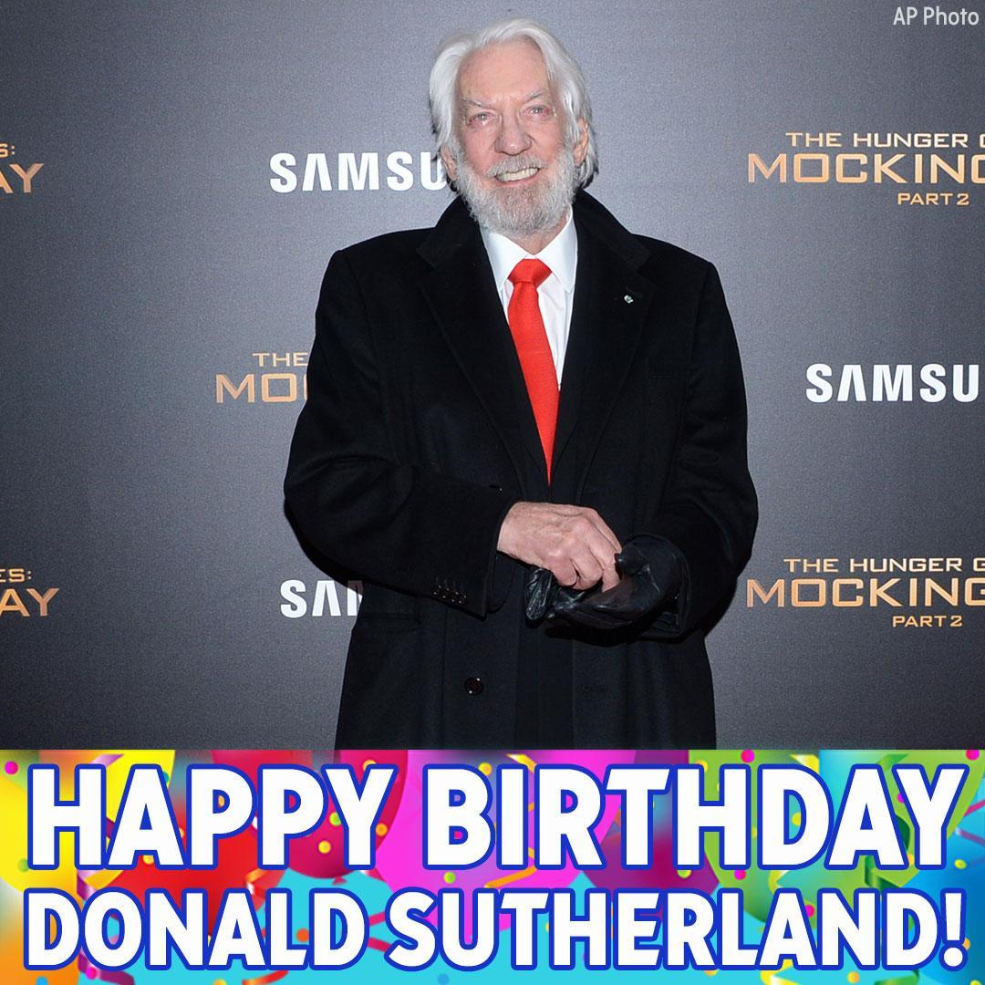 Happy Birthday to and actor Donald Sutherland!