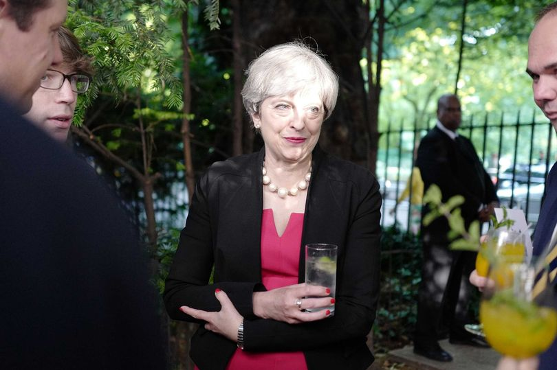 Theresa May hosts boozy bash for Tory MPs - but warm Prosecco is not on the menu https://t.co/pmo8a27BNu https://t.co/83rBTDKoxl