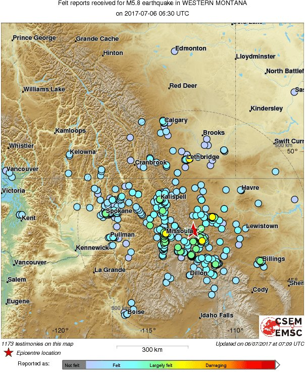 Map of the testimonies received so far following the #earthquake m5 ...