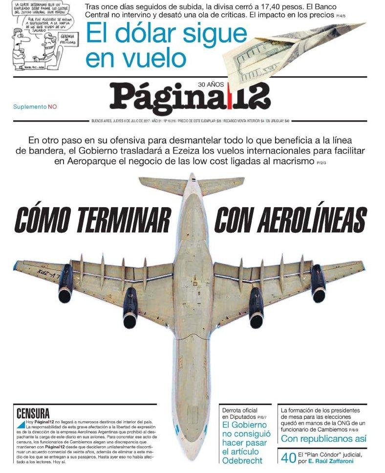 Cómo terminar con Aerolíneas... https://t.co/Mbt5YxNUMk