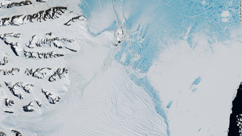 An ice sheet the size of seven New York Citys could soon break off from Antarctica