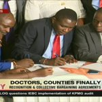 Doctors sign collective bargaining agreement