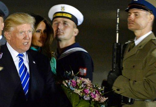 The Latest: Trump and Croatian leader talk energy in Poland