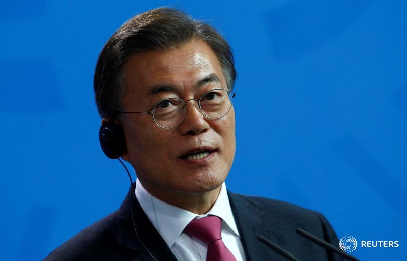 South Korea's Moon says it is time for North Korea to decide: dialogue or not