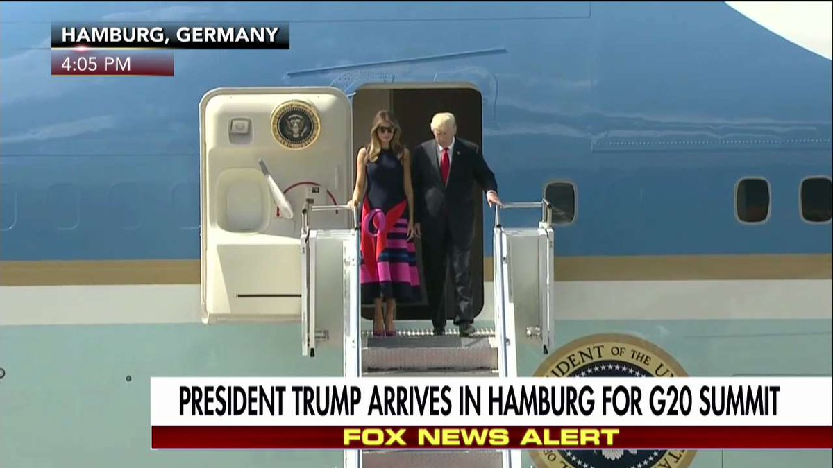 .@realDonaldTrump arrived in Hamburg, Germany ahead of the G20 Summit.