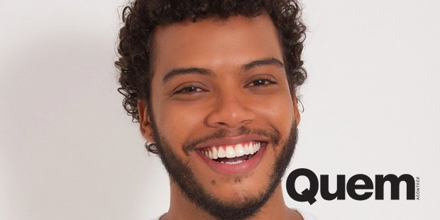 Felipe Silcler. Foto do site da Quem Acontece que mostra Revelação de 'Novo Mundo', Felipe Silcler diz: 'Quero muito ser protagonista'.