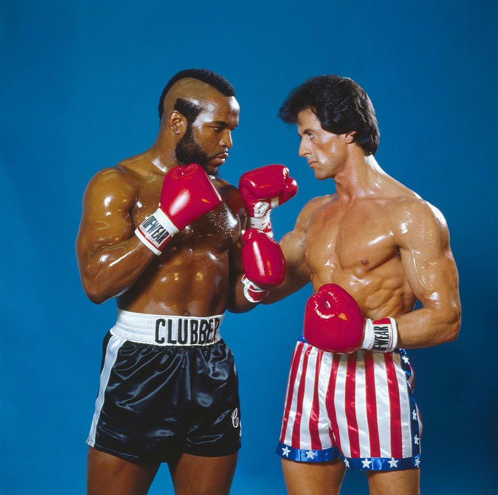 #TBT: @TheSlyStallone and @MrT pose for SI in 1982 (and they brought the baby oil!) https://t.co/nzpTU5Uie9 https://t.co/3IN4ag7ONh