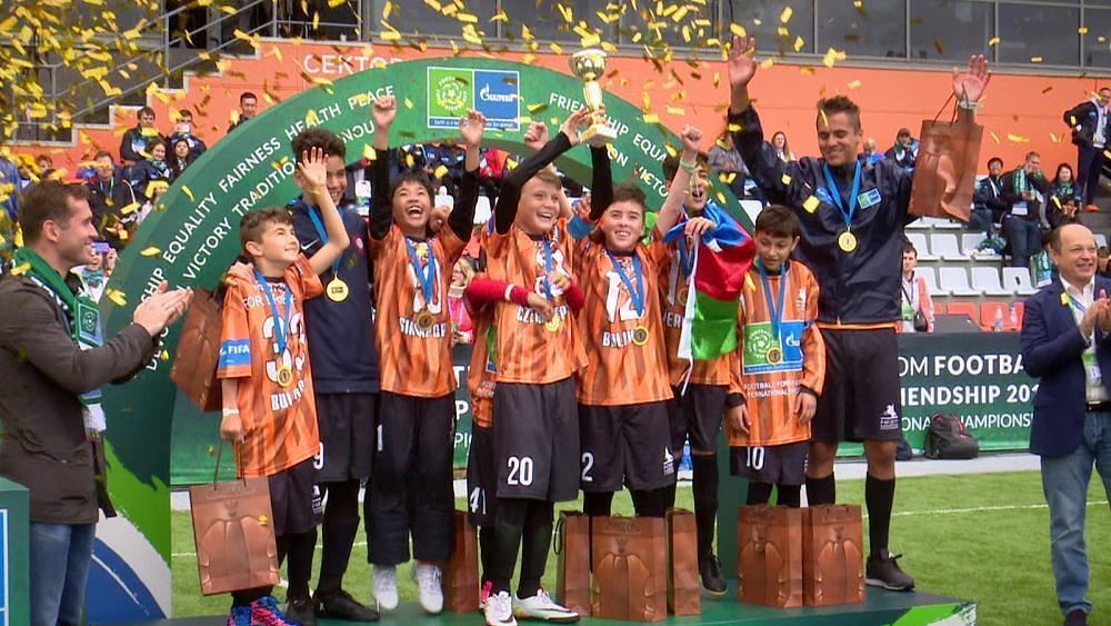Football brings kids together