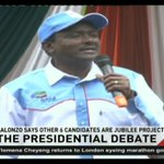 Kalonzo Musyoka says other 6 candidates in the Presidential Debate are Jubilee projects