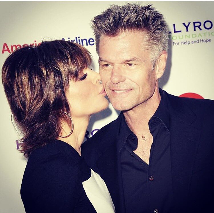 In honor of #NationlKissingDay ???????????????????????? Kissing My scrumptious Harry Hamlin ???? https://t.co/f9UnFB4XaV