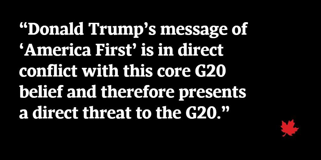 Why G20 unity is crucial to Canada @GlobeDebate