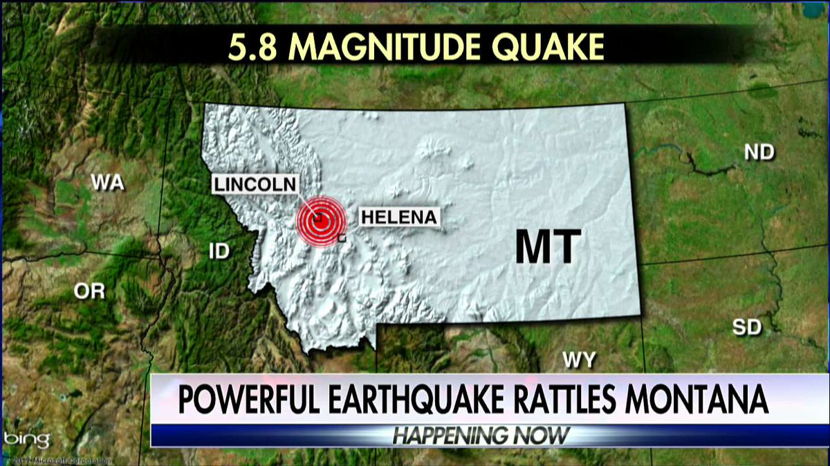 Powerful earthquake rattles Montana.