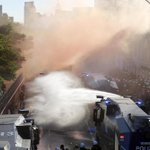 German police use water cannons and pepper spray to disperse G-20 protest