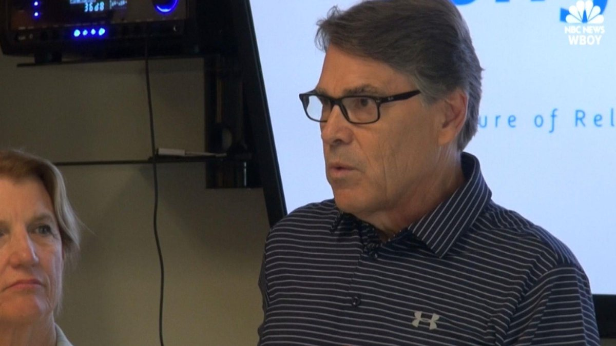 Energy Secretary Rick Perry advocates for clean coal technology